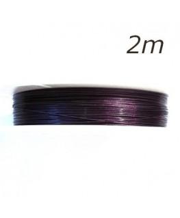 Fil câblé fin violet x2m