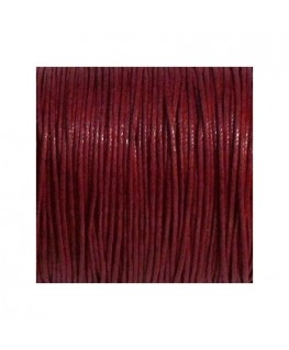 Lacet coton 0.7mm marron x 3m