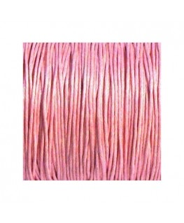 Lacet coton 0,8mm rose
