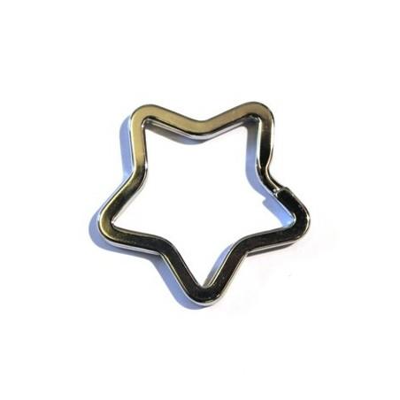 Anneau porte-clef 28mm nickel