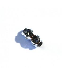 Rondelle Strass cristal 6mm gris foncé