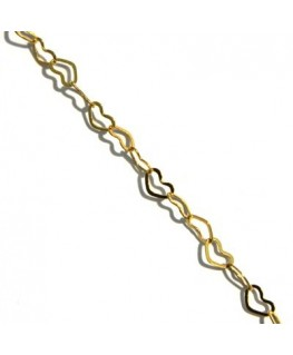 Chaine maille ovale bronze 50cm