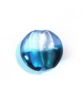 4 Palets verre feuille d'argent 20mm olivine