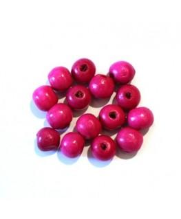 25 Perles en bois 11mm jaune