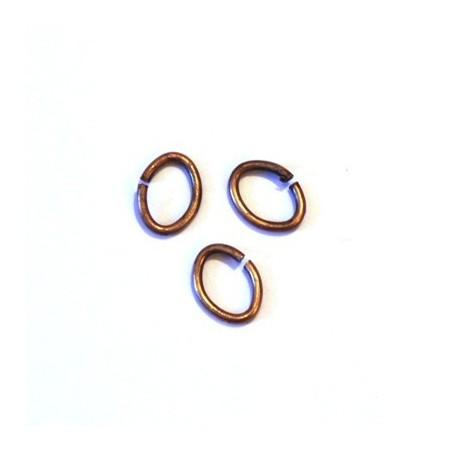 Anneau 5mm argenté x10
