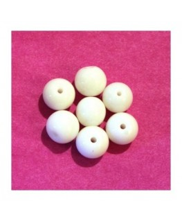 10 Perles ovales en verre 11mm blanc
