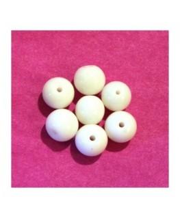 Perles rondes en verre 8mm blanc x25