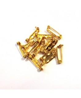 Epingle broche 25mm cuivre x2
