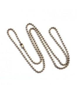 Collier chaîne à billes avec fermoir 60cm nickel