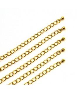 Chainette dorée x 10