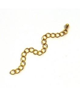 Chainette dorée x 2