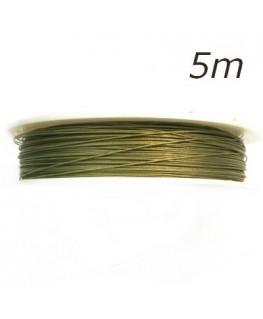 Fil câblé olivine pour bijoux