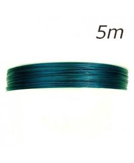 Fil câblé pour bijoux bleu capri 5m