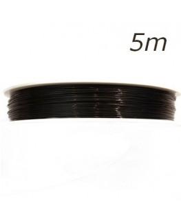 Fil câblé pour bijoux noir 0,45mm 5m