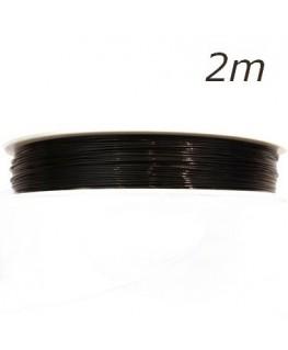 Fil câblé pour bijoux noir 0,45mm 2m