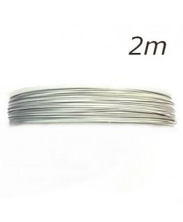 Fil câblé pour bijoux blanc 0,45mm 2m
