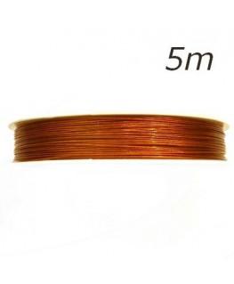 Fil câblé pour bijoux cuivre 0,45mm 5m