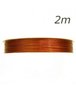 Fil câblé pour bijoux cuivre 0,45mm 2m