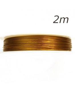 Fil câblé pour bijoux doré 0,45mm 2m