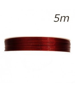 Fil câblé pour bijoux rouge 0,45mm 5m