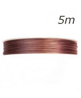 Fil câblé pour bijoux rose 0,45mm 5m