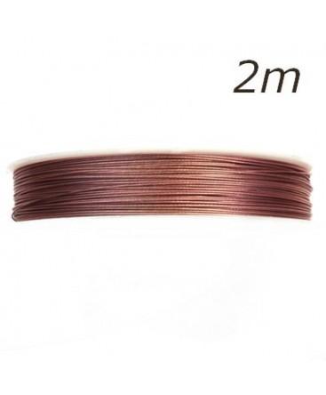 Fil câblé pour bijoux rose 0,45mm 2m