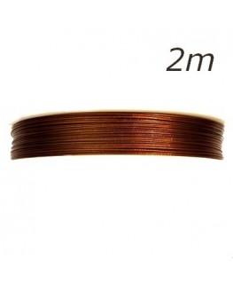 Fil câblé pour bijoux marron 0,45mm