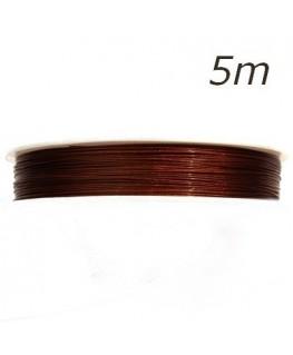 Fil câblé pour bijoux marron chocolat 0,45mm