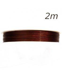 Fil câblé pour bijoux chocolat 0,45mm