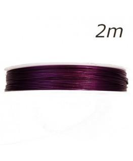 Fil câblé pour bijoux violet x2m