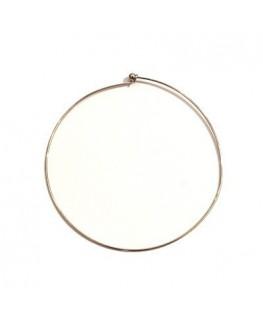 Tour de cou métal vieil argent 12 cm