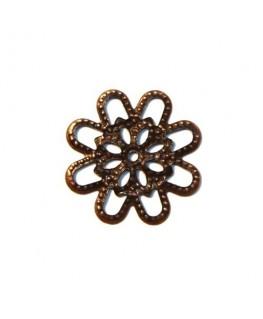 Estampe fleur métal cuivre x 5