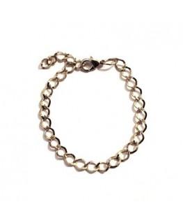 Bracelet à garnir argenté