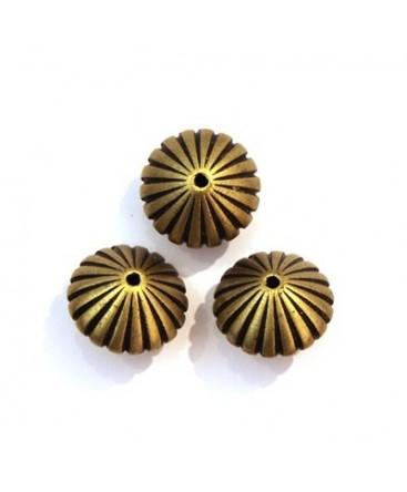Perle CCB toupie striée bronze x5