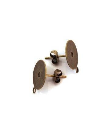 Boucle d'oreille argentée x6