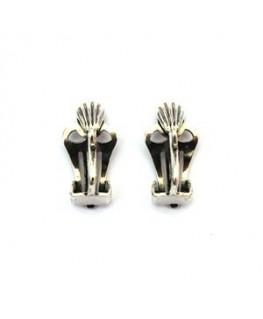Attaches clips pour boucles d'oreilles argent vieilli