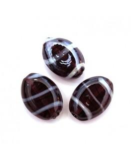 5 Perles rondes en verre rose 14mm