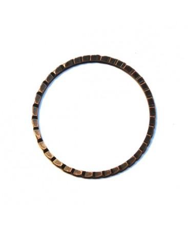 Anneau dentelé métal cuivré x 6