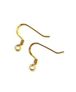 5 paires boucles d'oreilles américaines aplaties dorées