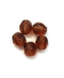 Perles à facettes 6mm muscade x20