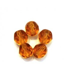 Perles à facettes 6mm ambre x20