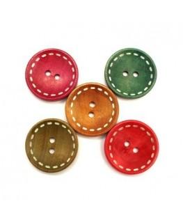Boutons en bois pour bijoux 30mm