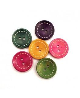 Boutons en bois pour bijoux 25mm