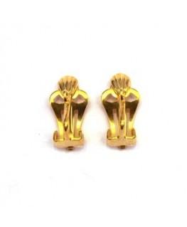 Attaches clips pour boucles d'oreilles dorées
