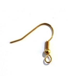 5 paires crochets boucles d'oreilles américaines dorés