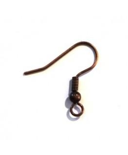 5 paires crochets boucles d'oreilles américaines cuivre