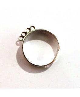 Bague 4 anneaux argentée x 1