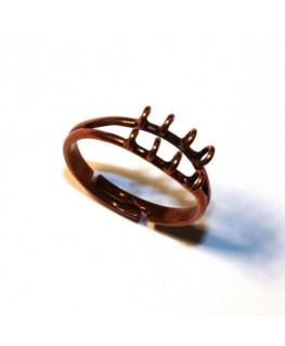 Bague 8 anneaux cuivre x 1