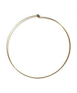 Tour de cou rigide métal doré x 1