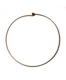 Tour de cou rigide métal cuivre x 1